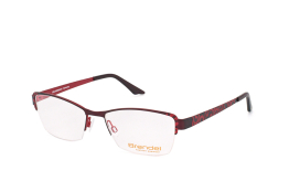 Brendel 902149 50, Rectangle Brillen, Rot
