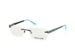 Brendel 902188 70, Trapezoid Brillen, Hellblau
