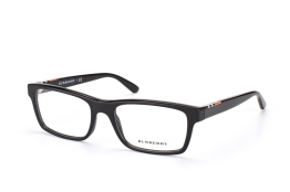Burberry BE 2138 3396, Rectangle Brillen, Schwarz