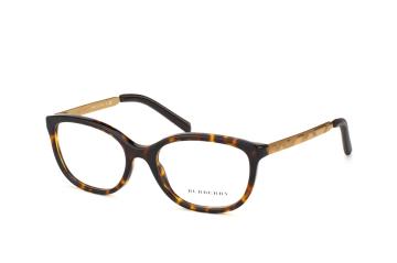 Burberry BE 2148 Q 3002, Oval Brillen, Goldfarben