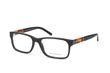 Burberry BE 2150 3001, Rectangle Brillen, Schwarz