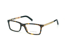 Burberry BE 2159Q 3002, Rectangle Brillen, Goldfarben