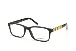 Burberry BE 2162 3001, Rectangle Brillen, Schwarz