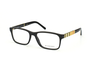Burberry BE 2162 3001, Rectangle Brillen, Schwarz
