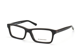 Burberry BE 2187 3001, Rectangle Brillen, Schwarz