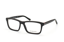 Burberry BE 2188 3001, Rectangle Brillen, Schwarz