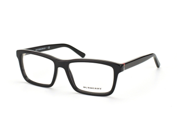 Burberry BE 2188 3001, Rectangle Brillen, Schwarz