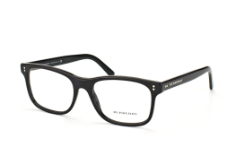 Burberry BE 2196 3001, Rectangle Brillen, Schwarz