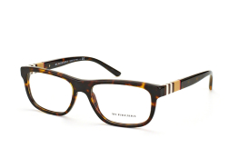 Burberry BE 2197 3002, Rectangle Brillen, Havana