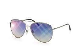 Burberry BE 3072 1003B2, Aviator Sonnenbrillen, Silber
