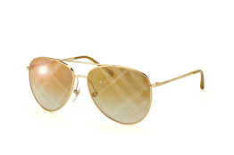 Burberry BE 3072 1017/b3, Aviator Sonnenbrillen, Goldfarben