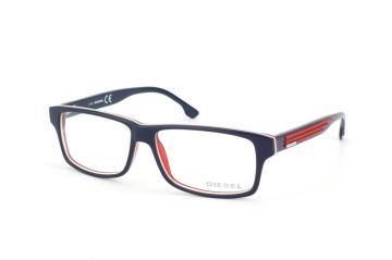 Diesel DL 5015/v 092, Rectangle Brillen, Blau