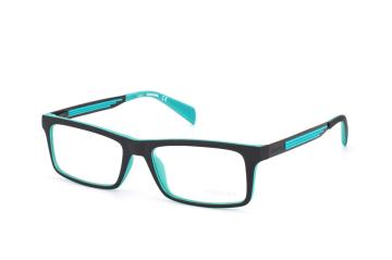 Diesel DL 5050/v 005, Rectangle Brillen, Schwarz