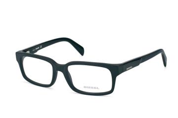 Diesel DL 5080/v 002, Rectangle Brillen, Schwarz