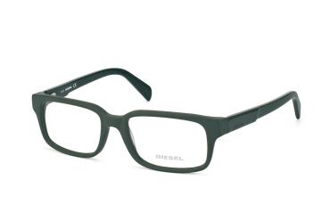 Diesel DL 5080/v 097, Rectangle Brillen, Dunkelgruen