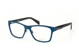 Diesel DL 5081/v 091, Trapezoid Brillen, Dunkelbraun