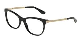 Dolce & Gabbana Für Frau 3234 Black Kunststoffgestell Brillen, 54mm - 1
