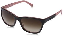 Emporio Armani Damen EA 4004 Essential Leisure Wayfarer Sonnenbrille, 504613, Black/Opal Pink, Brown Grad - 1