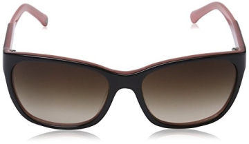 Emporio Armani Damen EA 4004 Essential Leisure Wayfarer Sonnenbrille, 504613, Black/Opal Pink, Brown Grad - 2