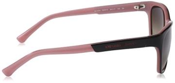 Emporio Armani Damen EA 4004 Essential Leisure Wayfarer Sonnenbrille, 504613, Black/Opal Pink, Brown Grad - 3