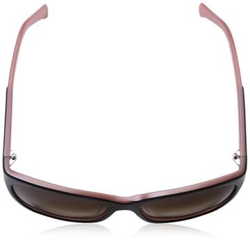 Emporio Armani Damen EA 4004 Essential Leisure Wayfarer Sonnenbrille, 504613, Black/Opal Pink, Brown Grad - 4