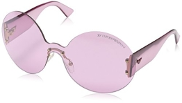 Emporio Armani Damen EA 9837/S Wrap Sonnenbrille, Light Rose Transparent Frame / Gradient Rose - 1