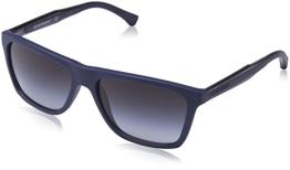 Emporio Armani Herren EA 4001 Modern Rechteckig Sonnenbrille, 50658G, Blue Rubber, Grey Grad - 1