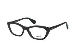 Prada PR 03Qv 1Ab1O1, Trapezoid Brillen, Schwarz