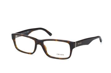 Prada PR 16Mv 2Au1O1, Trapezoid Brillen, Braun