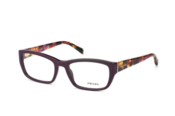 Prada PR 18Ov Rom1O1, Rectangle Brillen, Violett