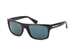 Prada PR 18Ps 1Ab0A9, Rectangle Sonnenbrillen, Schwarz