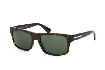 Prada PR 18Ps 2Au0B2, Rectangle Sonnenbrillen, Dunkelbraun