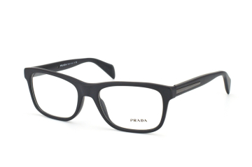 Prada PR 19Pv 1Bo1O1, Rectangle Brillen, Schwarz