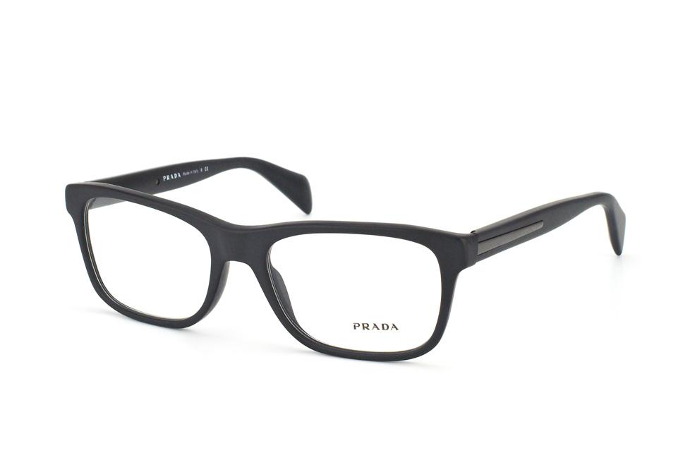 prada pr 19pv 1bo1o1 rectangle brillen schwarz g nstig. Black Bedroom Furniture Sets. Home Design Ideas