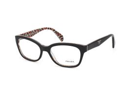 Prada PR 20Pv MAS 1O1, Trapezoid Brillen, Schwarz