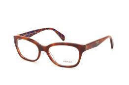 Prada PR 20Pv Mau1O1, Trapezoid Brillen, Braun