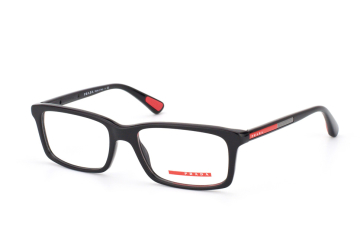 Prada Sport PS 02Cv 1Ab1O1, Rectangle Brillen, Schwarz