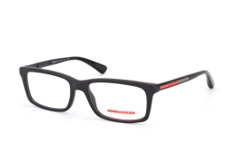 Prada Sport PS 02Cv 1Bo1O1, Rectangle Brillen, Schwarz