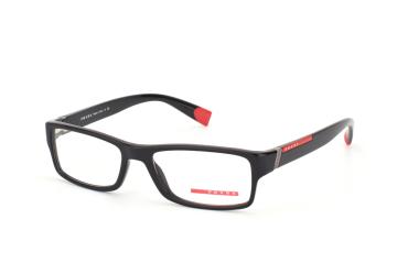 Prada Sport PS 03Cv 1Ab1O1, Rectangle Brillen, Schwarz