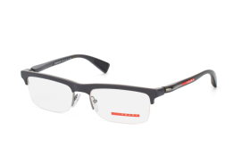 Prada Sport PS 05Dv Oaf1O1, Rectangle Brillen, Dunkelgrau