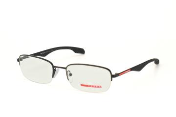 Prada Sport PS 51Ev 1Bo1O1, Rectangle Brillen, Schwarz