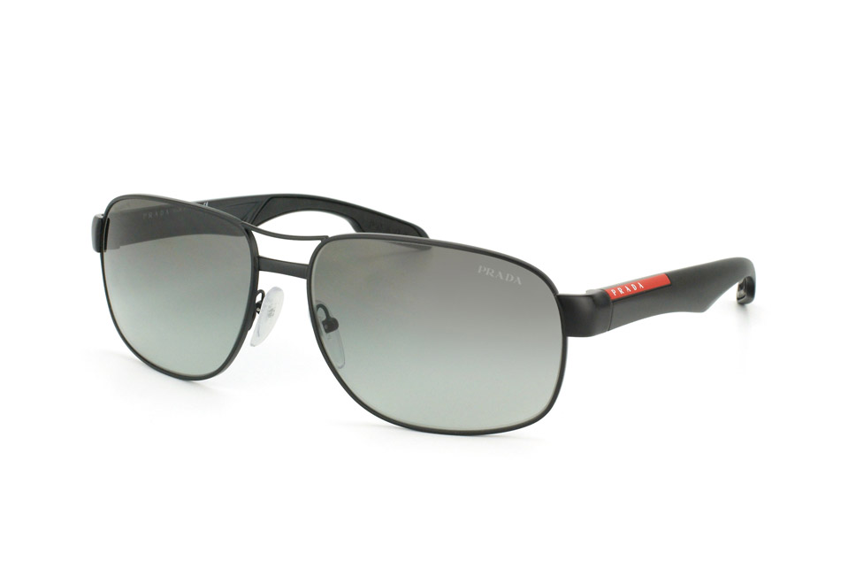 prada sport ps 58ns 1bo3m1 rectangle sonnenbrillen schwarz g nstig kaufen bei opticshop. Black Bedroom Furniture Sets. Home Design Ideas