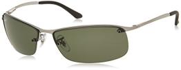 Ray-Ban Herren Sonnenbrille Top Bar, Einfarbig, Gr. Large (Herstellergröße: 63), Grau (004/9A) - 1