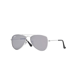 Ray Ban Junior Unisex - Kinder Sonnenbrille 9506S 212/6G, Gr. One Size, Silber - 1