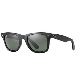 Ray Ban Unisex Rb2140 Wayfarer Wayfarer Sonnenbrille, Black - 1