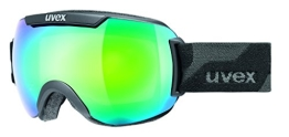 UVEX Skibrille downhill 2000, Black Mat/Ltm Green, One size, S5501092326 - 1