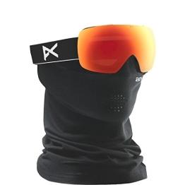 Anon Herren Snowboardbrille MIG MFI, Black/Red Solex, 13231100007 - 1