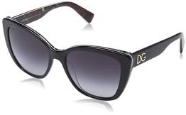 Dolce & Gabbana Damen DG 4216 DNA Schmetterling Sonnenbrille, 29408G, Black on Roses, Grey Grad - 1