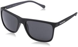Dolce & Gabbana Herren DG 6086 OverMolded Rubber Wayfarer Sonnenbrille, 280587, Black Rubber, Grey - 1