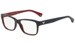 Emporio Armani Für Frau 3051 Blue / Red Kunststoffgestell Brillen, 51mm - 1
